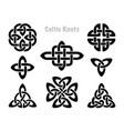celtic knots silhouettes irish knot symbols celt vector image