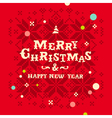 Christmas knitted snowflakes card vector image vector image