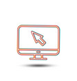 computer or monitor icon mouse cursor sign vector image vector image