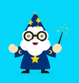 cute funny smiling wizard modern vector image vector image