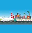 dangerous chemical truck vector image vector image