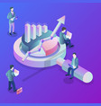 data analysis flat isometric concept vector image vector image