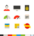 Different flat design web and application vector image