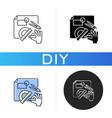 diy designing black glyph icon vector image vector image