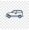 eco energy car concept linear icon isolated on vector image
