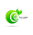 eco label design vector image vector image