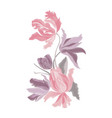 embroidery bouquet of tulips fashionable template vector image vector image