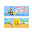 enjoy your summer banner set vector image vector image