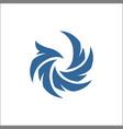 falcon eagle bird abstract logo template icon vector image