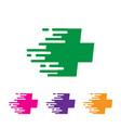 fast medicine logo designs vector image vector image