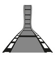 filmstrip roll isolated on the white background vector image