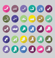 flat Shoes silhouettes icon set fashion collection vector image vector image