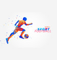 football player with colorful spots vector image