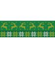 green christmas jumper vector image vector image