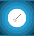 isolated pitchfork flat icon hay fork vector image vector image