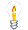 lamp and candle vector image vector image