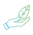 line natural leaf to conservation the environment vector image vector image