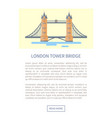 london tower bridge web page vector image vector image
