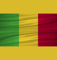 mali flag flag of mali blowig in the wind eps 10 vector image