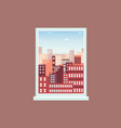 modern city view from apartment window vector image