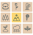 nature icons set with daisy pearl sprout and vector image vector image