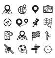 navigation and gps icon set cartography plan vector image vector image