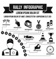 Rally infographic simple style vector image vector image