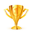 realistic golden trophy with text place vector image vector image