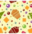 seamless dessert background Eps10 vector image