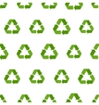 seamless flat recycling sign pattern vector image vector image