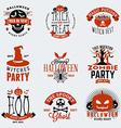 Set of Retro Vintage Halloween Badges Labels vector image