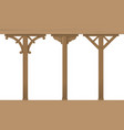 set of vintage wooden columns vector image vector image