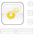 Settings white button vector image vector image