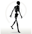 skeleton silhouette in walk vector image vector image
