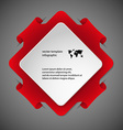 Square infographic template with red color vector image vector image