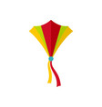 string kite icon flat style vector image