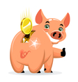 successful piggy bank vector image vector image