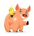 successful piggy bank vector image