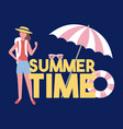 summer time travel vector image