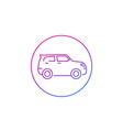 suv car icon on white line vector image