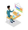 teacher teaching chemistry isometric 3d icon vector image vector image