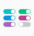 toggle icon set on and off button switch vector image