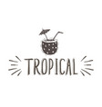 tropical hand-lettering phrase with vector image vector image