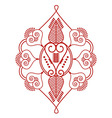 Two leaves shape inspired by henna tattoo n red vector image vector image