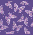 ultra violet trendy seamless pattern embroidery vector image vector image