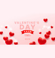 valentines sale banner template realistic vector image
