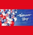 veterans day flying in sky balloons vector image vector image