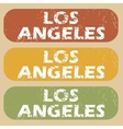 Vintage Los Angeles stamp set vector image vector image