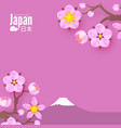 welcome to japan japanese landscape with fuji vector image