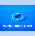 wind direction isometric icon isolated on color vector image vector image